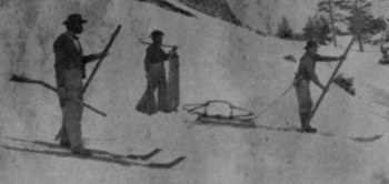travelling by snow shoes - The Bear Trap